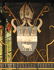 Diocesan Arms of Oxford (Lawrence OP) Tags: christchurch heraldry arms cathedral oxford diocesan