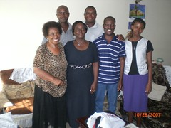 Mama E with Joyce and the family