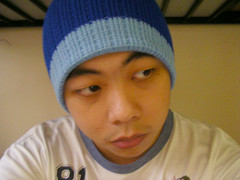 Now, I'm wearing a blue beanie for Blue Beanie Day.