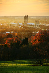 Canterbury Cathedral from University of Kent (Jim_Higham) Tags: uk autumn england kent europe university cathedral postcard eu canterbury blueribbonwinner