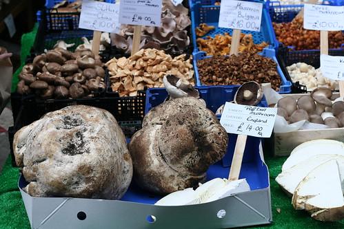 puffballs for sale at Borough Market