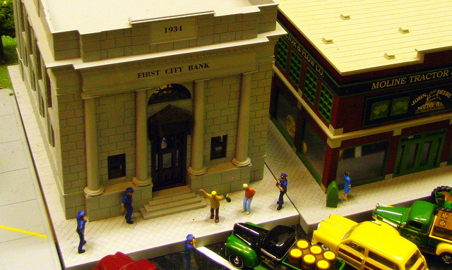 Model train Display #10: Foiled bank robbery