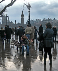 Just an ordinary day on the 'Bank' (ro_nya) Tags: street urban london wet rain walking housesofparliament bigben explore dreads 2008 embankment strolling ronya