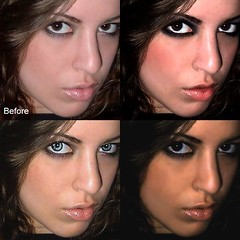 before/after (bakedzito) Tags: blue italy woman brown hot cute sexy girl beautiful make up lady photoshop hair model eyes italian long pretty makeup before ciao lips virtual after makeover bella georgeous