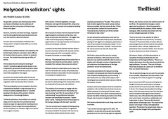 Holyrood in Solicitor's Sights Octover 30 2006 The Herald