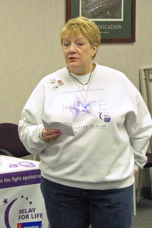 Gina Speaking At The Relay For Life Kickoff