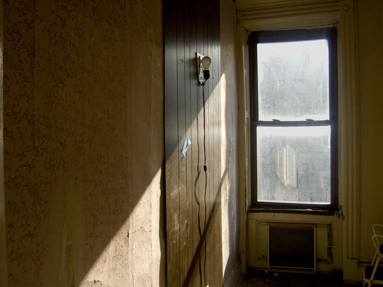 empty room with light