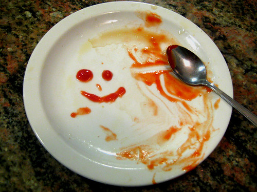 ketchup face, attempt one