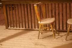 Feb Snowstorm- back porch @ midnite