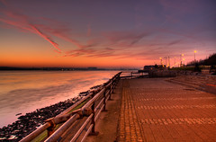Otterspool prom, Liverpool (John_Kennan) Tags: longexposure sunset sky slr water speed liverpool canon river landscape eos slow promenade slowshutter hdr highdynamicrange mersey otterspool 3xp photomatixpro 40d castironshore