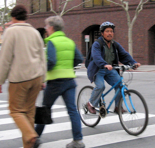 Crosswalk cyclist