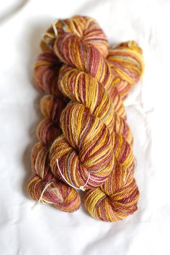 Navajo plied sock yarn