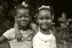 Friends (jendayee) Tags: friends portrait people blackandwhite bw girl smile kids youth fun warm noiretblanc martinique young naturallightkids naturalbeautyportraiture unlimitedphotos showmeyourqualitypixel
