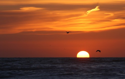 Zonsondergang Zandvoort aan zee