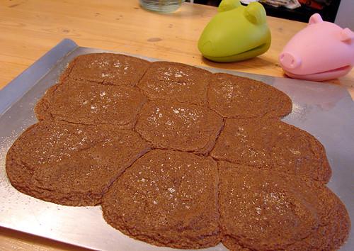 flat cookies