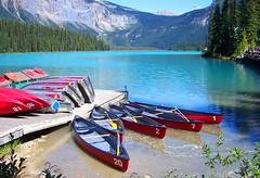 dip dip (Kurt Carroll) Tags: mountains britishcolumbia canoes rowboats emeraldlake yohonationalpark
