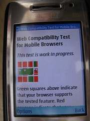 The Nokia Services browser is not Web compatible