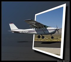 Cessna 172 OOB (sandy.redding) Tags: airport aviation skyhawk cessna outofbounds oob inyokern explored n2428y nikkor18200mmf3556g