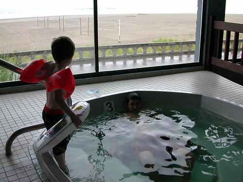 Hot tub at Seaside Oregon (Shilo Inn)