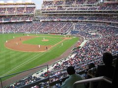 The crowd filled in nicely by the 2nd inning