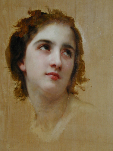 Bouguereau unfinished detail