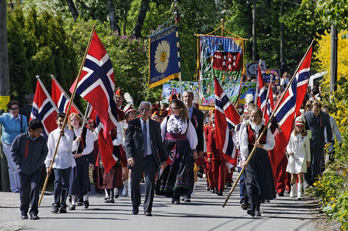 Constitution day in Norway 17. May by lasse christensen.