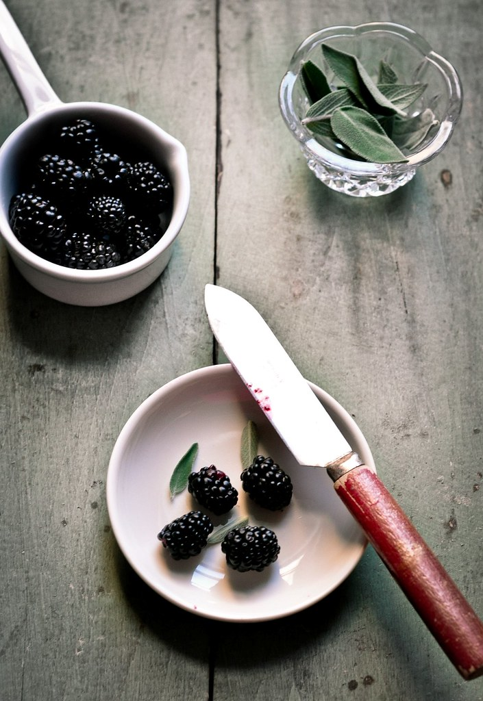 Blackberries and Sage