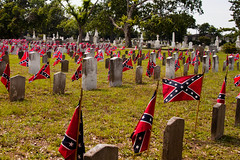 the south shall rise again... (Lisa{santacrewsgirl}) Tags: cemetery memorial south headstone southcarolina graves charleston confederateflag confederatememorial magnoliacemetery
