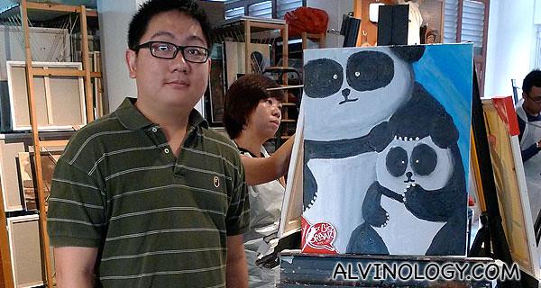 My panda painting