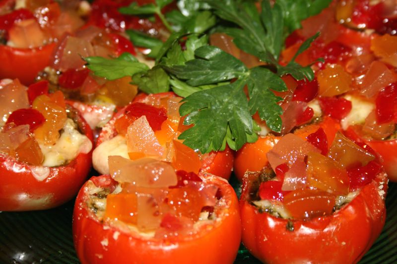 Pomodori Ripieni ai Mostarde di Frutta