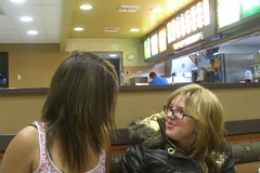 Amelia and Annetta hamming it up (deliadawnn) Tags: family french mcdonalds fries