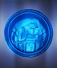 Glass replica of the 'Chellini Madonna, glass, made around 1976.