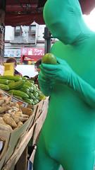 IMG_3389.jpg (Anchala Blackstone) Tags: man green halloween suit spandex greenman sanfranciscochinatown sanfranciscohalloween halloweensanfrancisco greenspandex