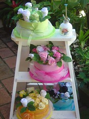 Baby Sock's Bouquet (Verusca's Cake) Tags: potflowers