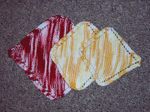 Diagonal dishcloths