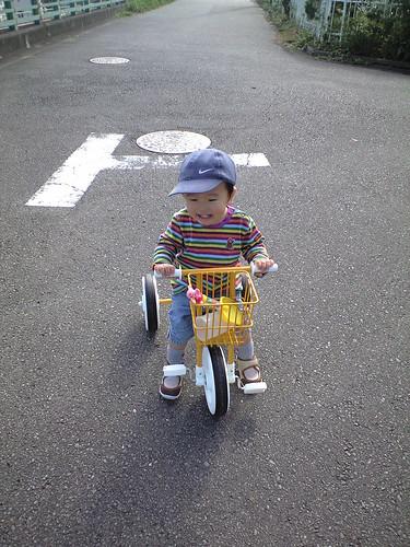 僕の三輪車!