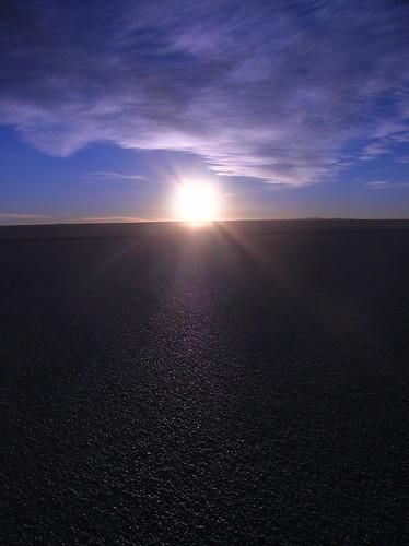 Amaneciendo en el Salar de Uyuni