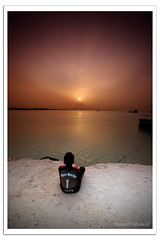 Watching the Sunset (Hussain Shah.) Tags: sunset port d50 nikon sigma kahn munchen kuwait 1020mm doha cokin gnd8 aplusphoto