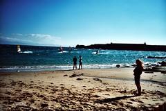 Tarifa Windsurfers (Mistyfx) Tags: lomo lca xpro lomography spain windsurfing tarifa