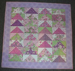 Mrs K's Quilt (mini_milly04) Tags: triangle quilt quilting quilted patchwork lapquilt