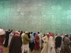 Jamrah stoning (Arabian Eagle) Tags: city mobile islam religion tent mina saudiarabia hajj     ibraham