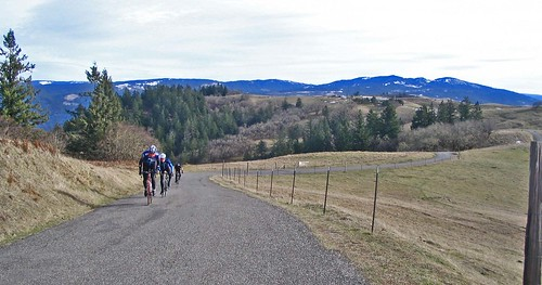 Bicyclists near Kneeland Airport