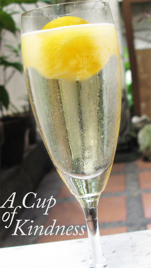 Peach and Prosecco Ice (with title)