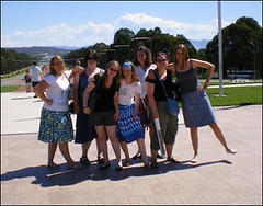 The LorF Seven at the War Memorial