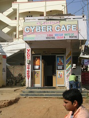 Cyber Cafe (mikecogh) Tags: shop cafe technology internet service hyderabad cybercafe