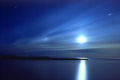 26 t64 (Bob West) Tags: longexposure nightphotography moon ontario night clouds lakeerie greatlakes fullmoon nightshots startrails erieau southwestontario bobwest fujichrome64t sigma24mm pentaxmz60 eastlighthouseerieau