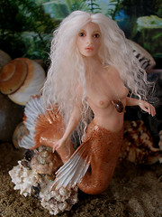 #61 Kaia ~ Goldfish Mermaid (Nenfar Blanco) Tags: sculpture art doll goldfish handmade ooak polymerclay fairy fantasy mermaid siren sirena puppenfimo nenufarblanco