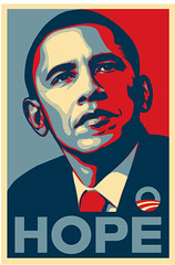 Hope - Barack Obama - Shepard Fairey (a35mmlife) Tags: art illustration poster hope paste wheat politics obey obeygiant democrat obama shepardfairey mccain barackobama paster election08 obeycom