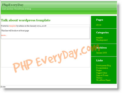 wordpress theme sidebar