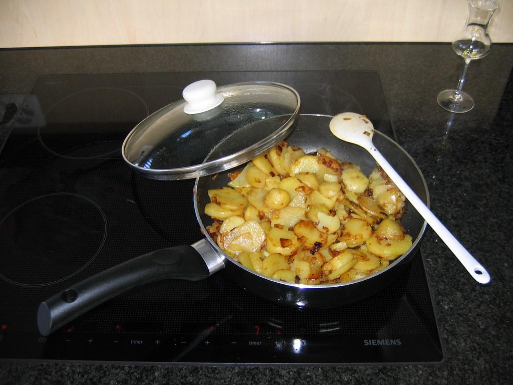 Die Kartoffeln sind schon schön weich gebraten
